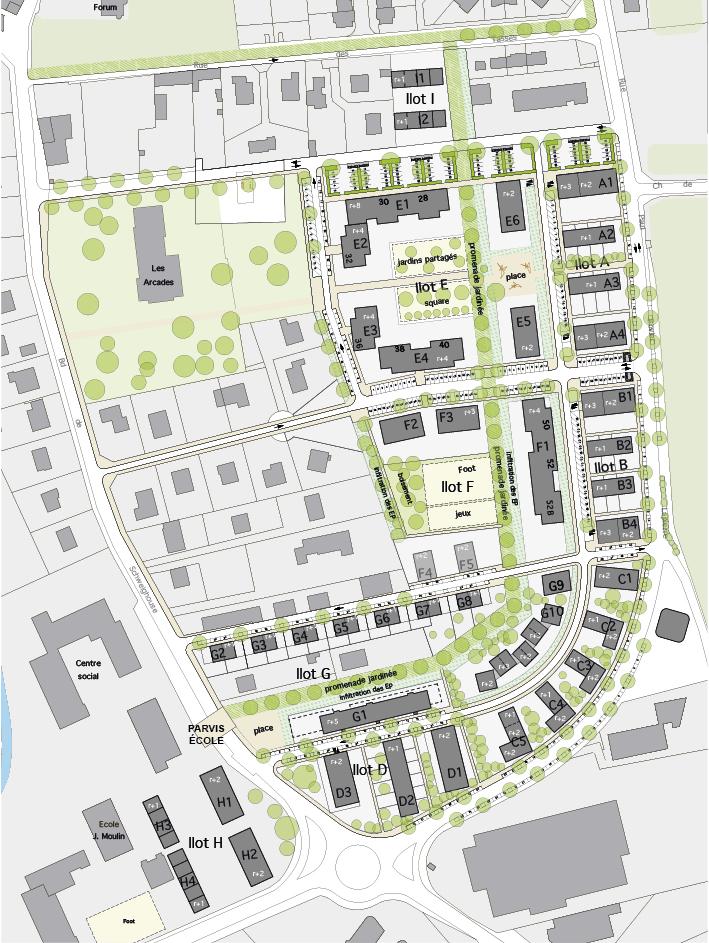 Op ration de renouvellement urbain brignais for Les espaces publics urbains